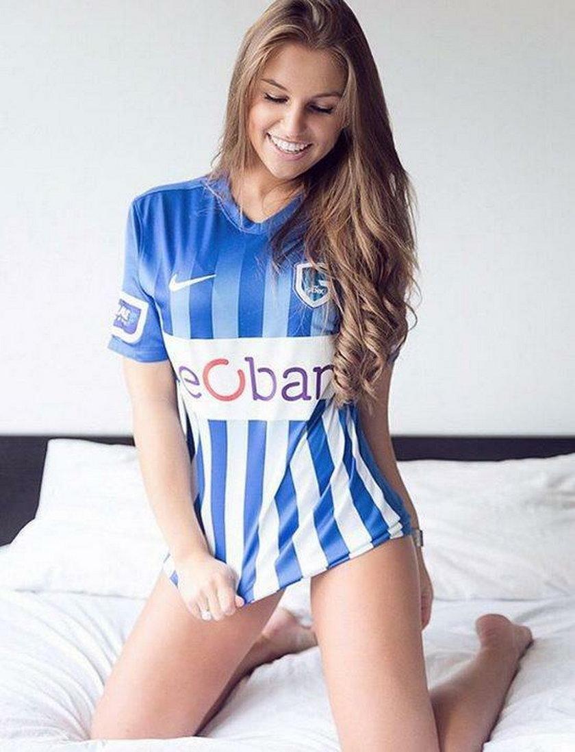 Śliczna dziewczyna piłkarza Genk