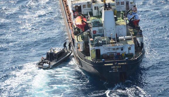 Brod na kom je pronađena droga u Venecueli