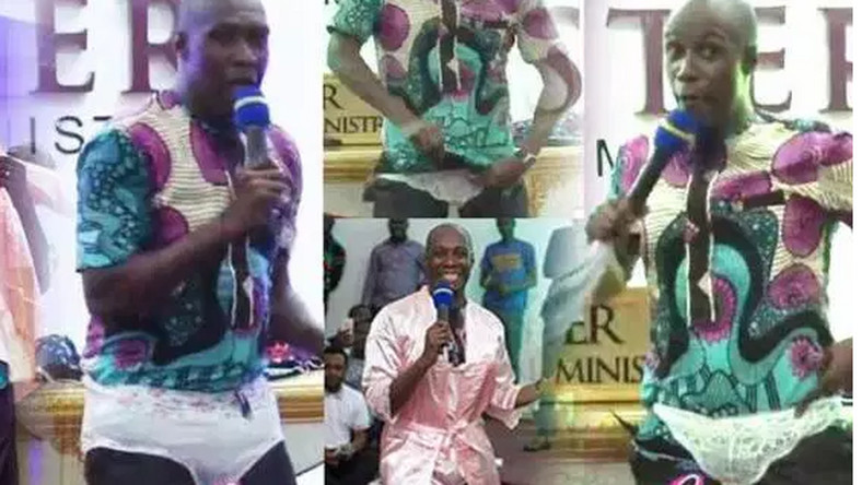 Prophet Oduro wears panties in church to show women how to 'hypnotise' men