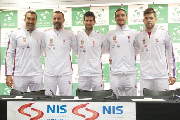 Uskoro na okupu: Teniska reprezentacija Srbije