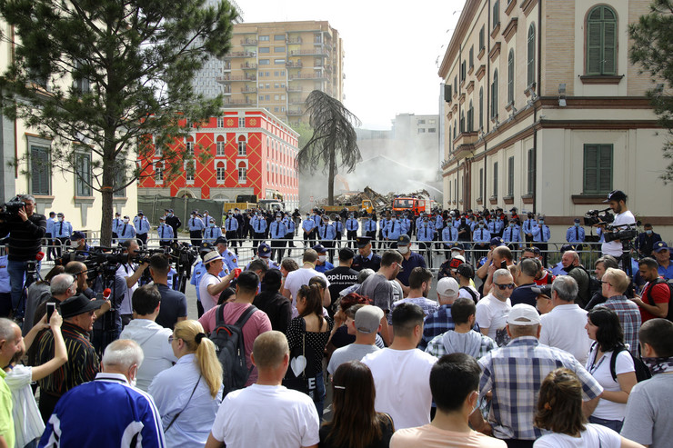Protest u Albaniji, Tirana
