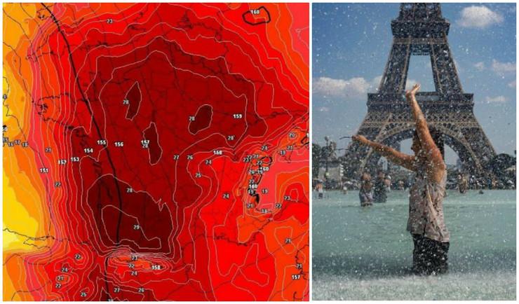 kolaž francuska vrišteća mapa
