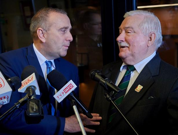 Grzegorz Schetyna i Lech Wałęsa