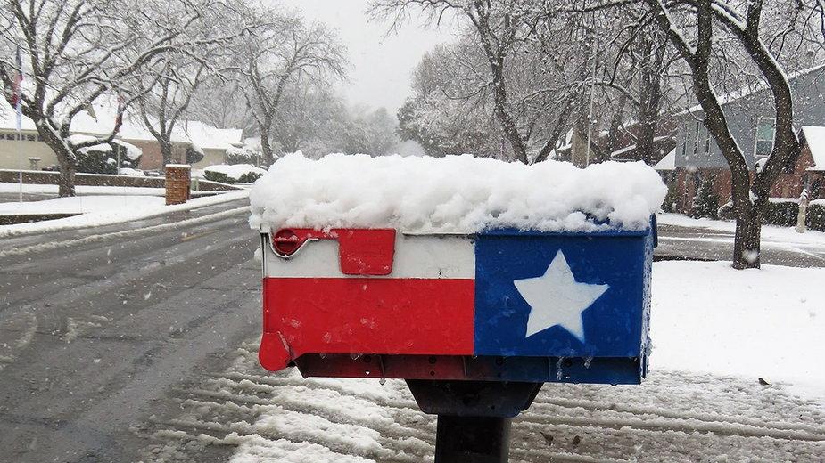 Śnieg sparaliżował Teksas
