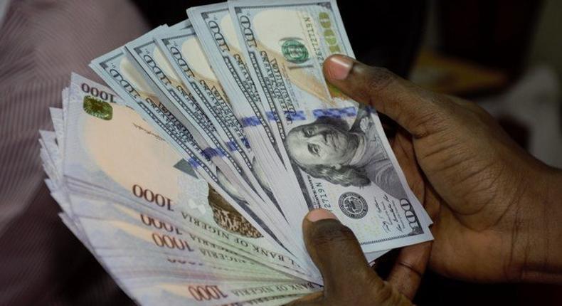 Nigerian naira and US dollar