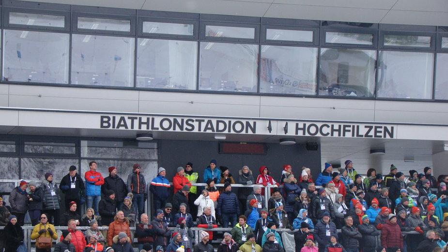 Stadion w Hochfilzen w przeciwieństwie do tego w Kontiolahti będzie w tym roku pusty