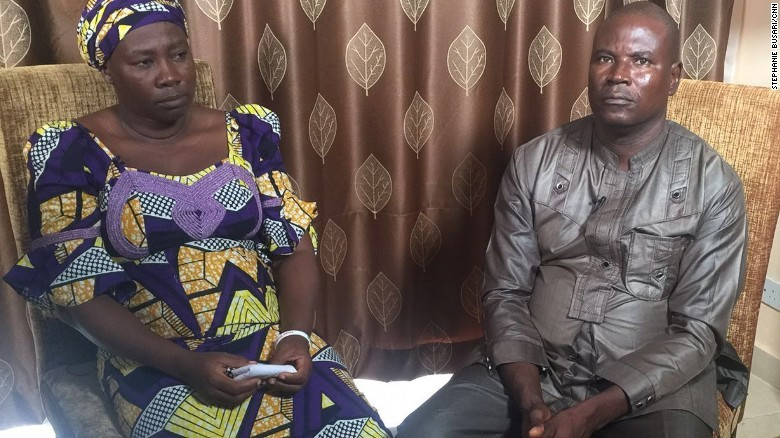 Kabu Yakubu and his wife, Esther, have not lost hope that their daughter, Dorcas, will return home safely [Stephanie Busari/CNN]