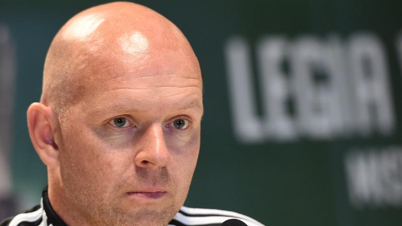 Trener piłkarzy Legii Henning Berg