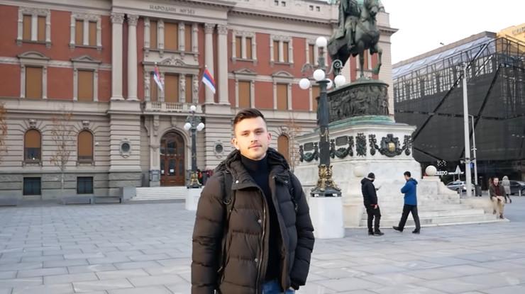 Mesec dana u Beogradu, Jutjuber