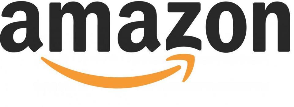 Amazon – Strzałka pokazuje, że w internetowym sklepie znajdziemy wszystko: od A do Z. Poza tym tworzy też uśmiech z dołkiem na policzku.