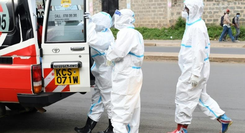 A file photo of health officials responding to a Covid19 emergency