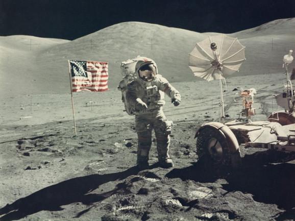 Judžin Cernan na Mesecu, decembar 1972. godine
