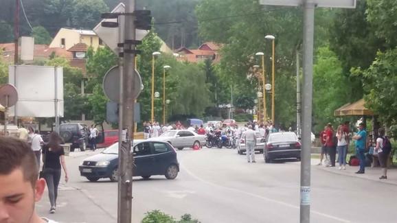 Blokada saobraćaja zbog goriva most kod parka Vide Jocić