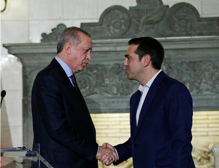Redžep Tajip Erdogan i Aleksis Cipras AP