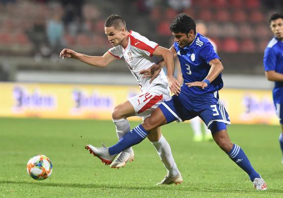 Mijat Gaćinović na meču Srbija - Paragvaj