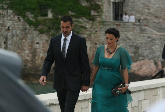 Nenad Zimonjić sa suprugom Minom