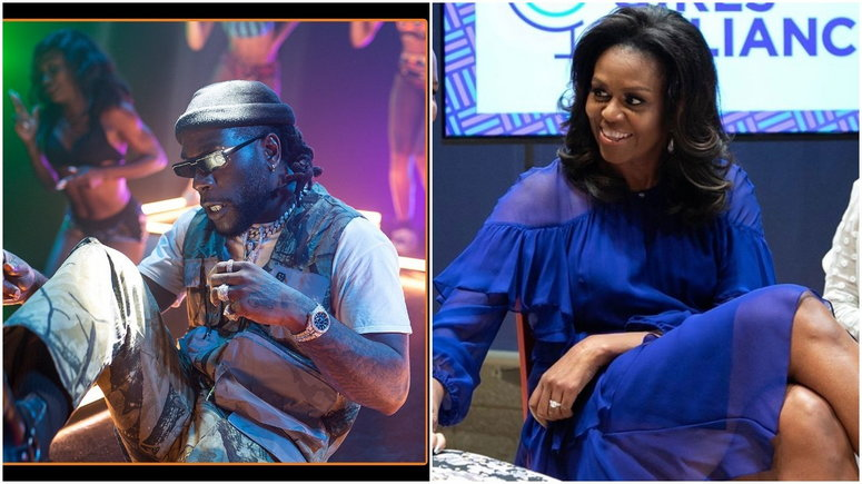 Michelle Obama's playlist for her workout session this year comes with an impressive roll call as Nigeria's music star, Burna Boy made it to the list.