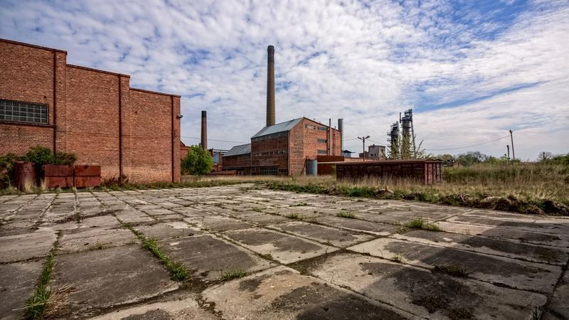Opuszczona cukrownia w Witaszycach w województwie wielkopolskim
