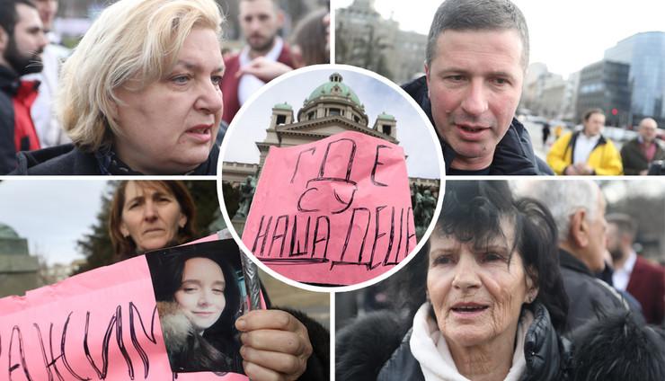 Protest roditelja ispred Skupštine grada