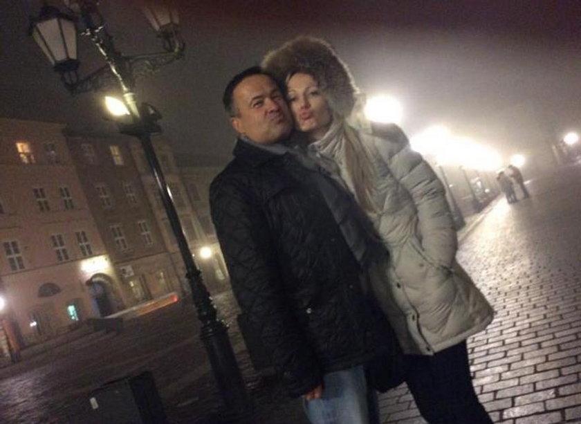 Magdalena Ogórek z mężem
