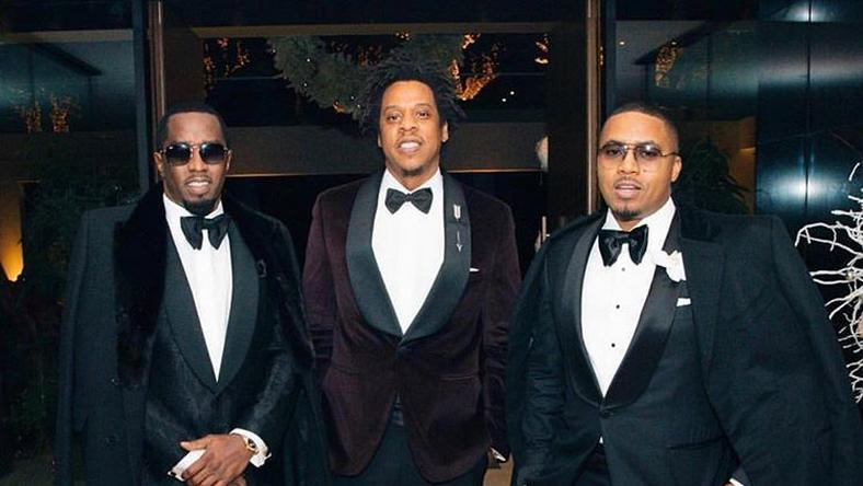 Music legends Jay Z, Nas, and Diddy set the internet on fire with classic tux photos