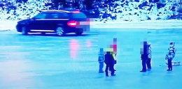 Jeździł autem po zamarzniętym Bugu, a obok bawiły się dzieci. Taka kara go za to spotkała