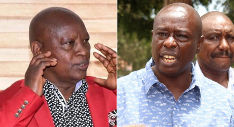 Nyeri Governor Mutahi Kahiga and Mathira MP Rigathi Gachagua