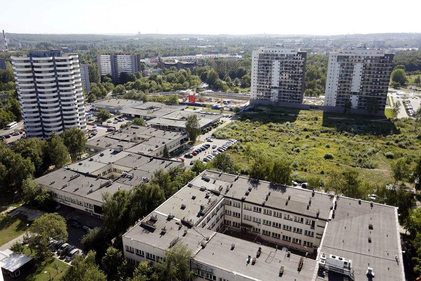 Katowice. Mieszkańcy protestują przeciwkobudowie 9 wieżowców przy ul. Zawiszy Czarnego