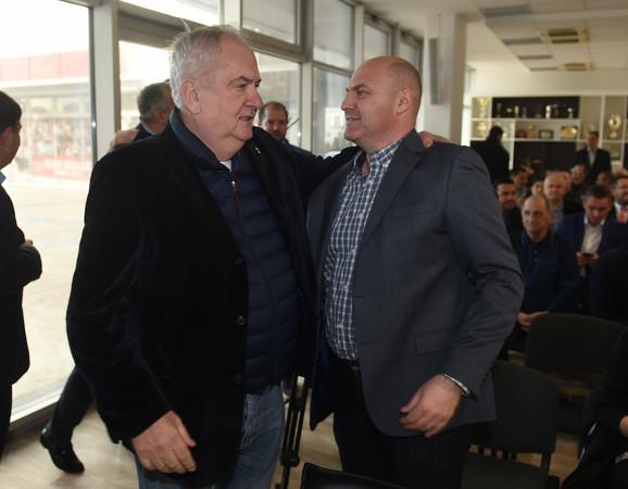 Predsednik Olimpijskog komiteta Srbije Božidar Maljković i urednik sportske rubrike