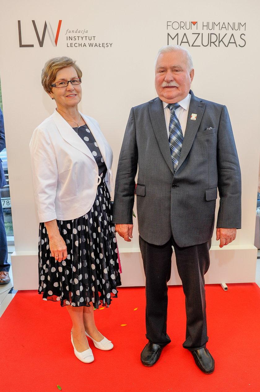 Lech Wałęsa z żoną Danutą