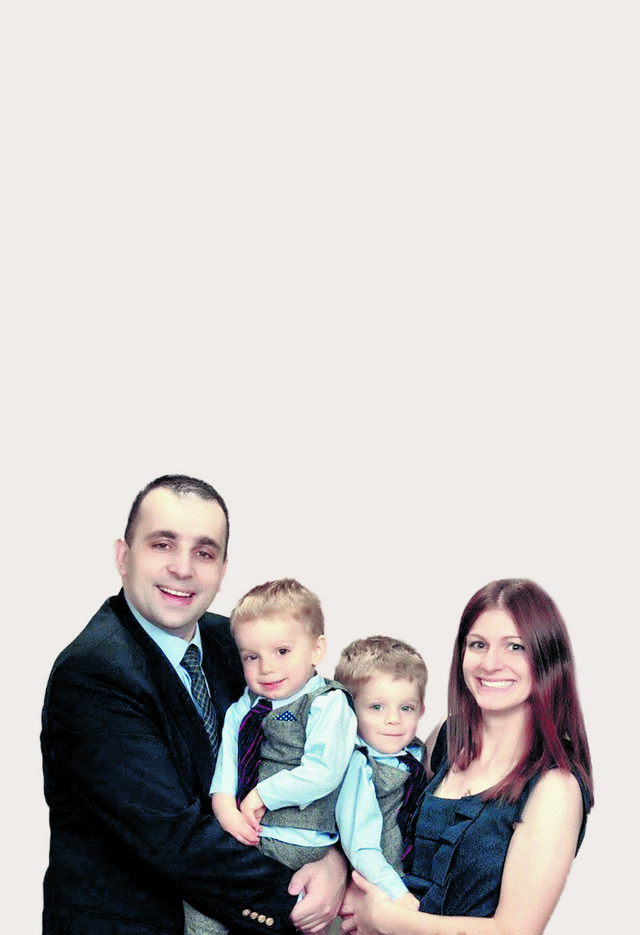 Božo Todorić sa suprugom i sinovima
