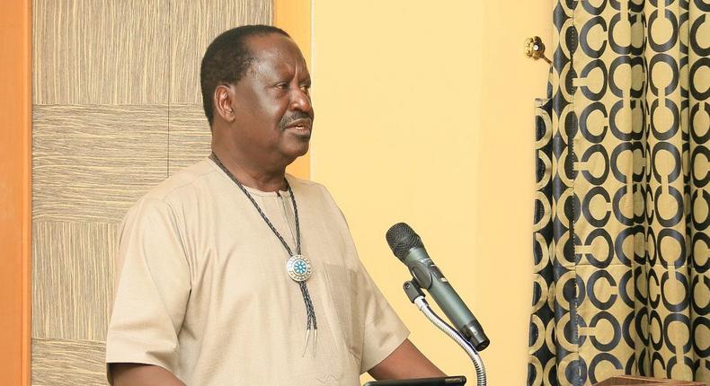 Special AU envoy Raila Odinga during visit to Nigeria