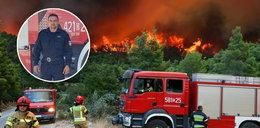 """Dramatyczna relacja polskiego strażaka w Grecji. """"Zerwał się silny wiatr, co będzie dalej - ciężko powiedzieć"""""""