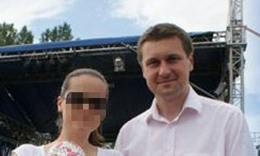 Poseł Łukasz Zbonikowski z żoną