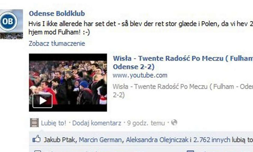 Z Krakowa do Danii ślą podziękowania
