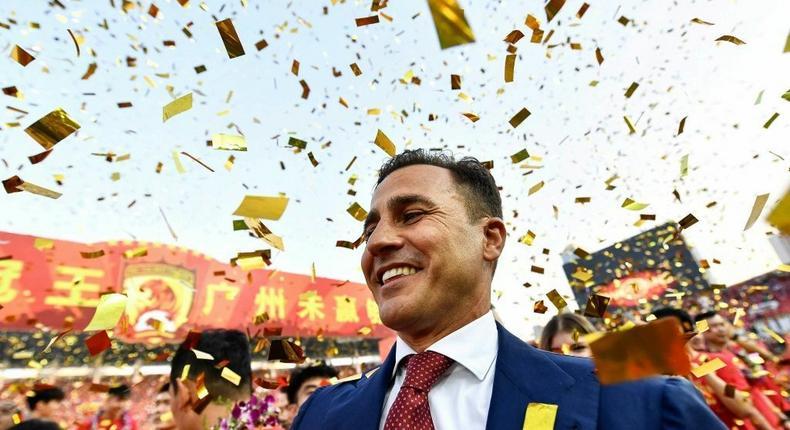 Fabio Cannavaro won the CSL title with Guangzhou in 2019 Creator: STR