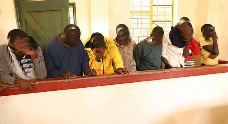 File image of the 8 Ambira Boys High School students who were accused of insulting Cabinet secretaries Amina Mohamed and Fred Matiang'i