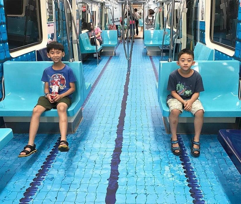 Basen w metrze? Wielka impreza w Tajwanie