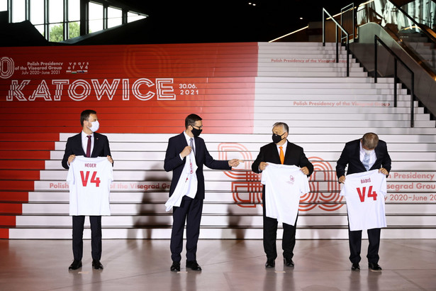 Igor Matovic, Mateusz Morawiecki, Viktor Orban, Andrej Babis