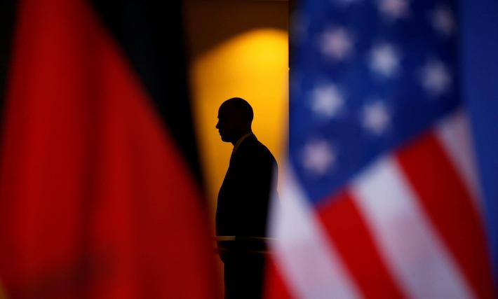 Obama and Merkel hold a joint press conference in Berlin, Germany