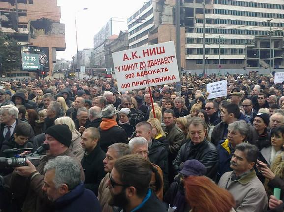 Advokati su došli iz svoh većih gradova Srbije