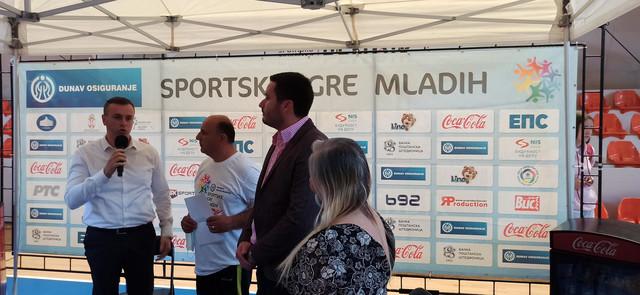 """Detalj sa svečanog otvaranja Sportskih igara mladih u Novom Pazaru, čiji je i """"Blic"""" jedan od sponzora"""