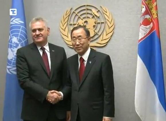 Predsednik Tomislav Nikolić i Ban Ki Mun, generalni sekretar Ujedinjenih nacija