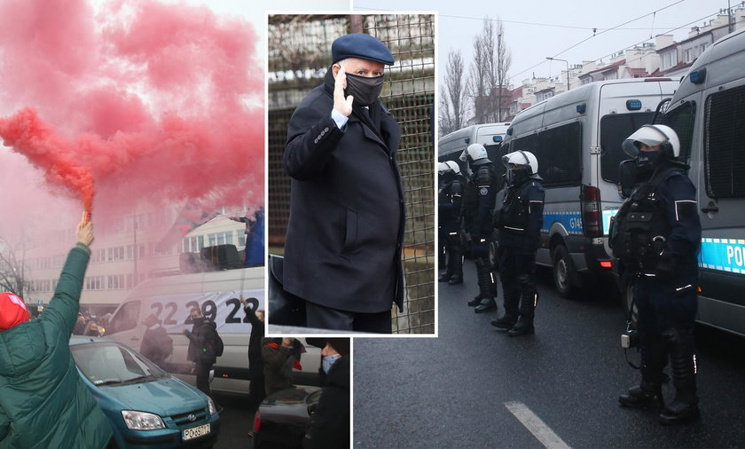 Protesty pod domem prezesa PiS. Kaczyński zrobił to