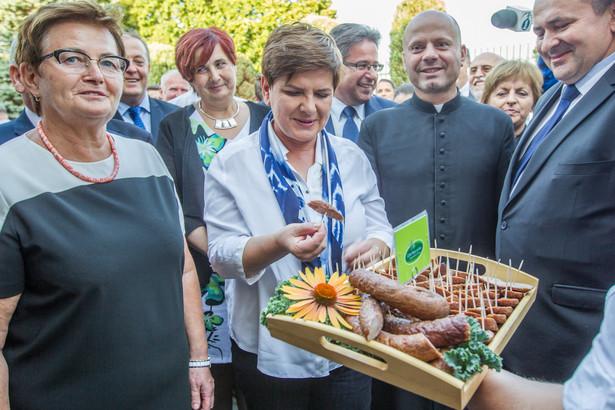 Premier Beata Szydło podczas wizyty na Podkarpaciu.