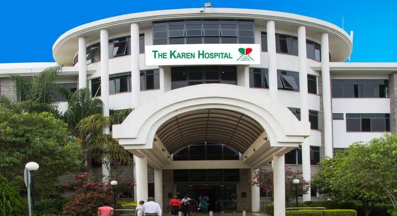 Entrance to the Karen Hospital