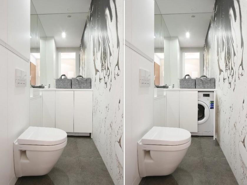 Mała łazienka Z Pralką 9 świetnych Pomysłów Na Zabudowę Dom