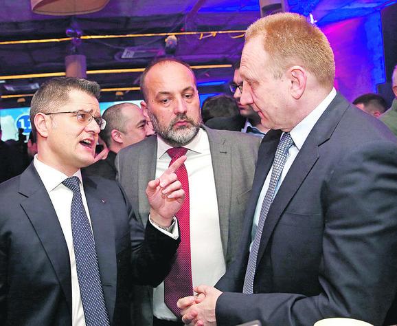 Vuk Jeremić, Saša janković i Dragan Đilas