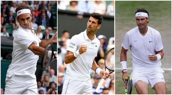 Novak Đoković, Rafael Nadal, Rodžer Federer