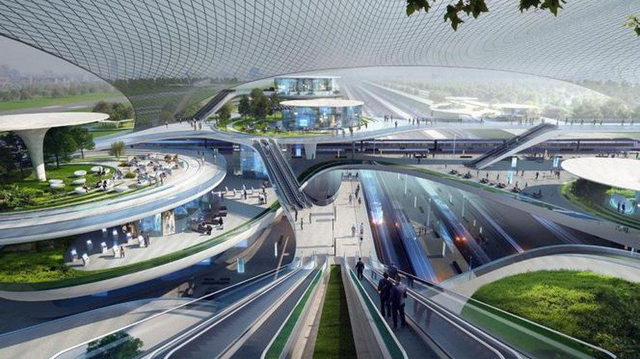 Jedna z wizualizacji Centralnego Portu Komunikacyjnego